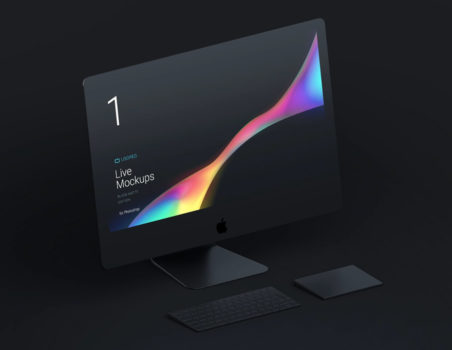 Free Apple Devices Mockups, iMac