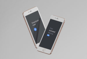Free Animated iPhones' Mockup