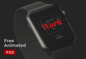 Free Animated Apple Watch Mockup for Photoshop