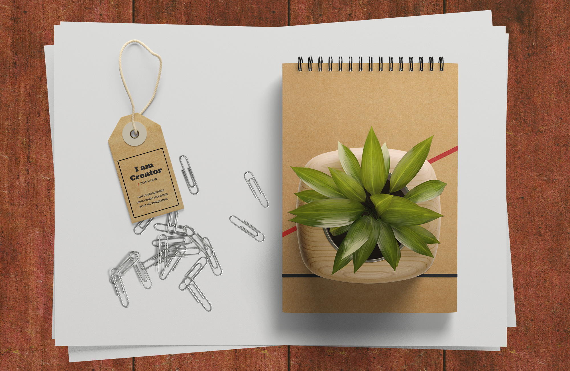 Free sample psd scene for presenting your work