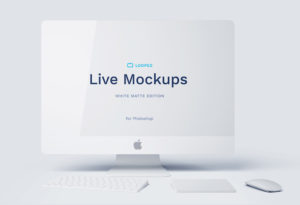 8 White Matte Apple Devices Mockups for Sketch and Photoshop