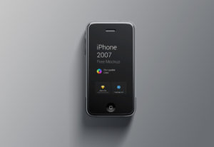 Original color iPhone 2007 Mockup