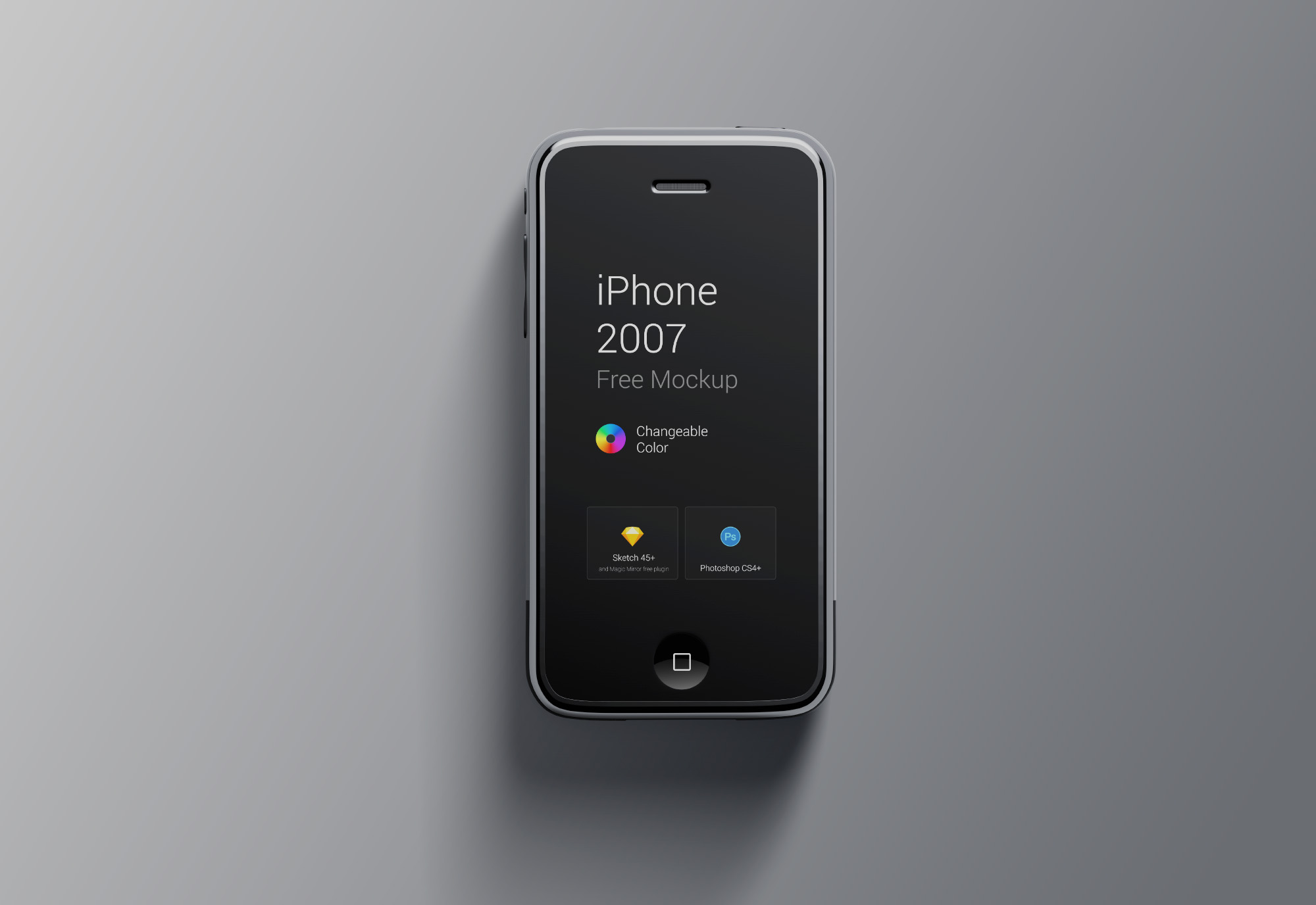 Asli warna iPhone 2007 Mockup