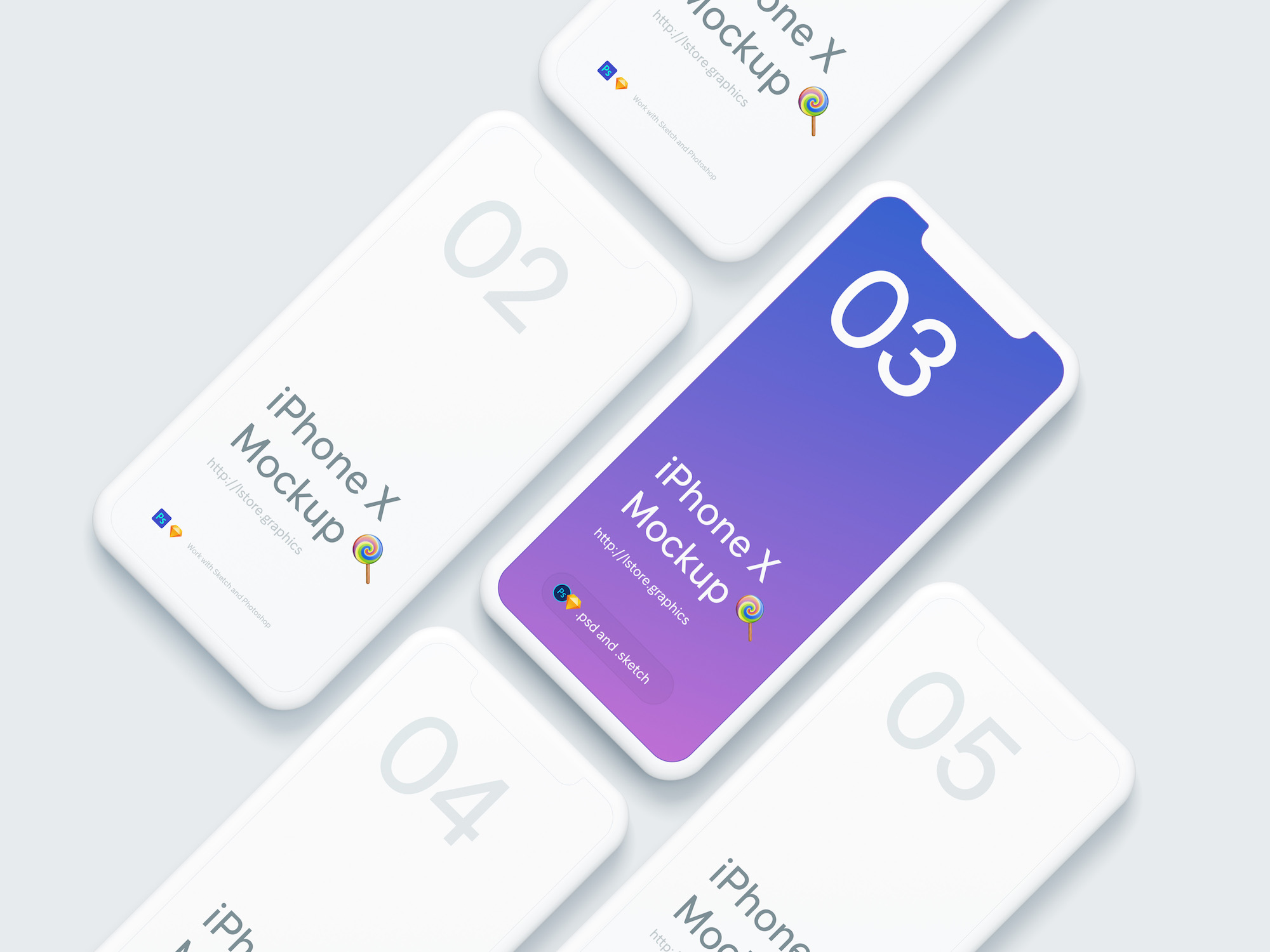 simple iphone x mockups freebies for designers and developers